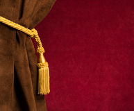 Red and brown theatre curtain Stock Photography