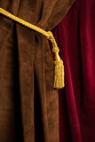 Red and brown theatre curtain Royalty Free Stock Photography