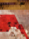 Red and brown triangles background antique style Royalty Free Stock Photo