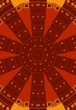 Red Brown Tribal Patterns Stock Photography