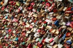 Red Brown Wishing Locks during Daytime royalty free stock photography