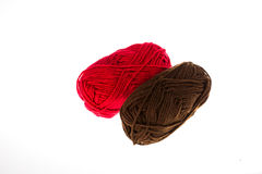 Red and brown yarn Royalty Free Stock Image