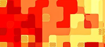 Red brown and yellow drawing abstract Royalty Free Stock Image