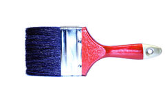 Red brush with a black bristle isolated Royalty Free Stock Images
