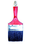 Red brush with a black bristle isolated Royalty Free Stock Photos