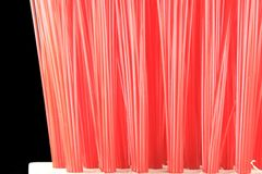 Red brush bristles closeup Stock Image