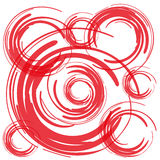 Red brush circles on white background  Royalty Free Stock Image