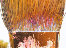 Red brush closeup Stock Photos