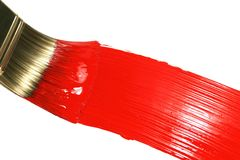 Red Brush Stroke Stock Photo