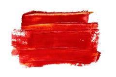 Red brush stroke Royalty Free Stock Image