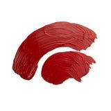 Red brush stroke Stock Photo