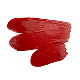 Red brush stroke Stock Photography