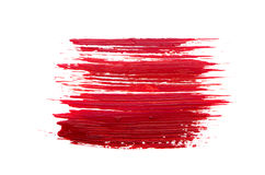 Red brush stroke on white background Royalty Free Stock Photography