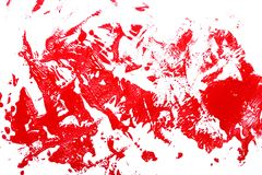 Red brush strokes Stock Images