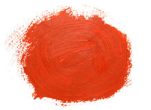 Red brush strokes Stock Photography