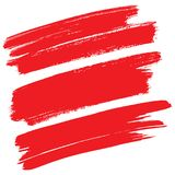 Red brush strokes isolated Stock Photos