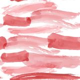 Red brush strokes seamless pattern on a white background. Waterc Royalty Free Stock Images