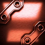 Red brushed metal background Stock Image