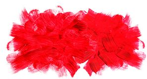 Red brushstrokes. Royalty Free Stock Photos