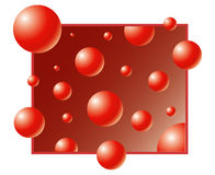 Red bubble. Bubble vector background. Red style royalty free illustration