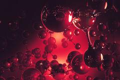 Red bubble backdrop Royalty Free Stock Photos