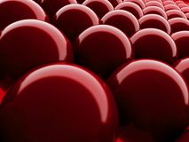 Red bubble background Stock Photos