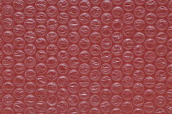 Red bubble wrap Royalty Free Stock Images