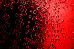Red bubbles. Stained glass royalty free stock image