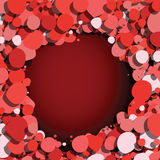 Red bubbles dark background Stock Image