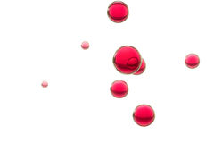 Red bubbles. Red juice bubbles floes toward the surface Stock Image