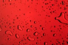 The red bubbles. Lots of bubbles of different shapes Stock Image