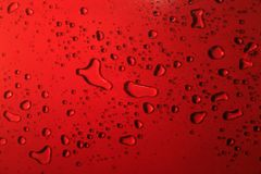 The red bubbles. Lots of bubbles of different shapes Royalty Free Stock Photo