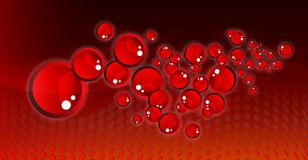 Red bubbles modern fantastic design Royalty Free Stock Images