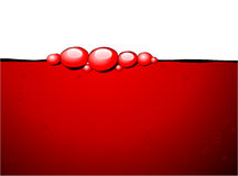Red bubbles in the red wine Stock Image