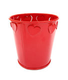 Red bucket Stock Photo