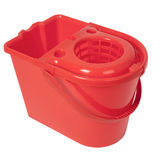 Red Bucket Stock Photography