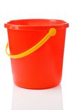 Red bucket. Studio shot one red plastical bucket isolated on white background stock images