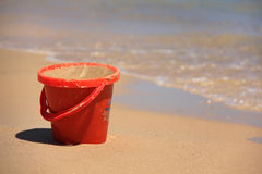 Red bucket Royalty Free Stock Image