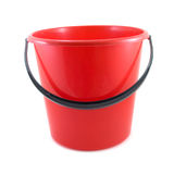Red bucket. Isolated on white background