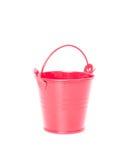 Red bucket. Isolatd on white background royalty free stock photo