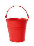 Red Bucket Royalty Free Stock Photography