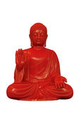 Red Buddha. A 3D render of a red buddha with a white background Royalty Free Stock Images