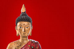 Red buddha figurine Stock Images