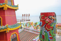 Red buddhism tower and chinese object Stock Image
