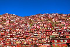 Red Buddist houses royalty free stock images