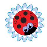 Red bug flower. A vector illustration of a red bug flower Stock Images