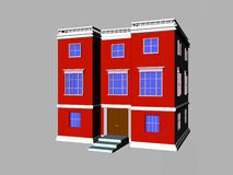 Red Building Royalty Free Stock Image