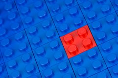 Red building block Stock Photos