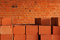 Red building blocks Stock Photography