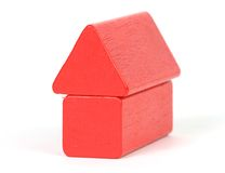 Red building blocks Stock Images